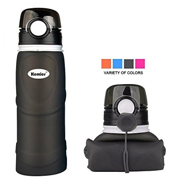 Kemier Collapsible Silicone Water Bottle...