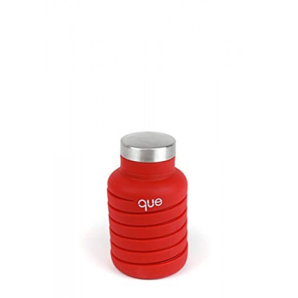 que Bottle | Designed for Travel and Outdoor. Collapsible Water Bottle - Food-Grade Silicone/BPA Free/Lightweight/Eco-Friendly - 20oz (1st Generation)