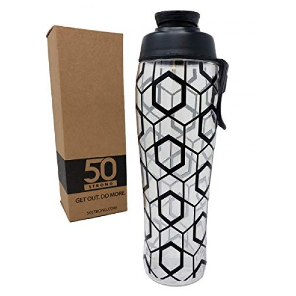 50 Strong BPA Free Gym Water Bottle with...