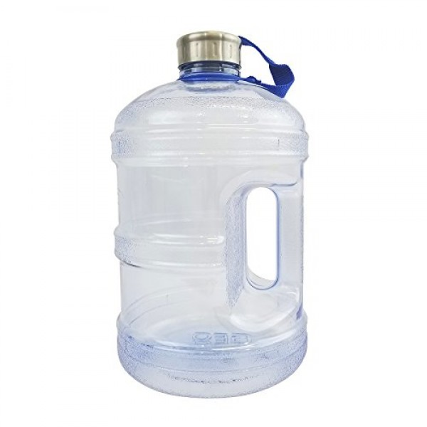 418e80c35b 1/2 Gallon or 1 Gallon BPA Free Reusable Plastic Drinking Wide Mouth Water  Bottle