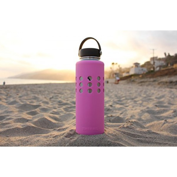 Thermi Protective Silicone Sleeve for Hydro Flask Water Bottles (18oz, 32oz, 40oz)