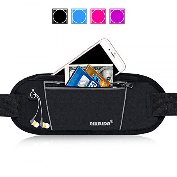 AIKELIDA Running Belt Fanny Pack - Runners Belt Waist Pack Fitness Gear Accessories - Running Pouch iPhone Xr Xs Max X 8 7 Plus for Men and Women