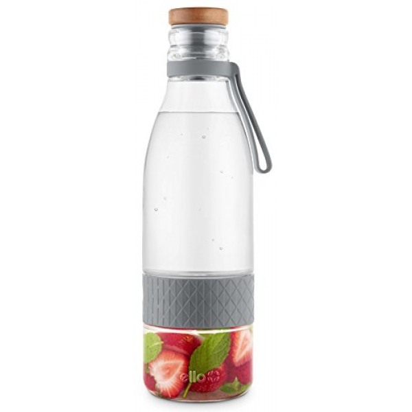 Ello Zest Glass Infuser Bottle 20 Oz