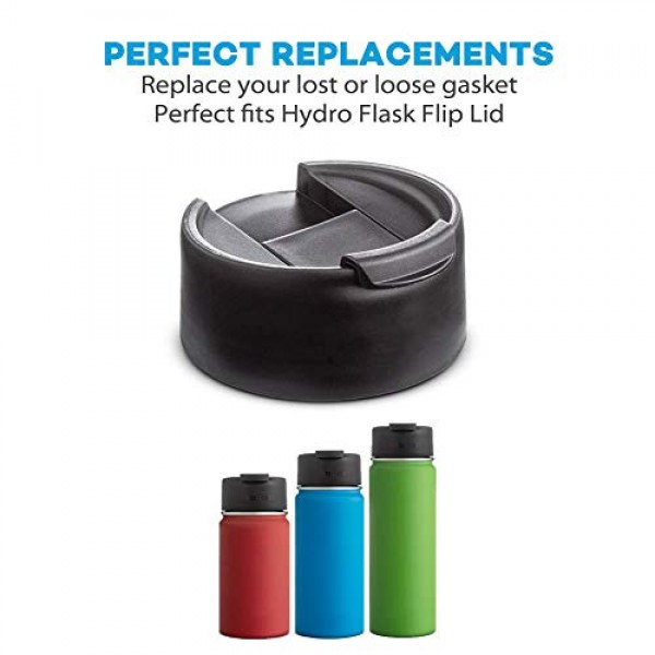 3-Pack Replacement Gaskets for Hydro Flask Wide Mouth Flip Lid Cap, BPA-Free Seals Rubber Stoppers Compatible with Hydro Flask Coffee Bottles