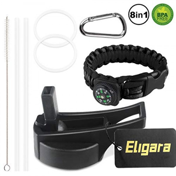 Eligara Straw Lids Fit for Wide Mouth Wa...
