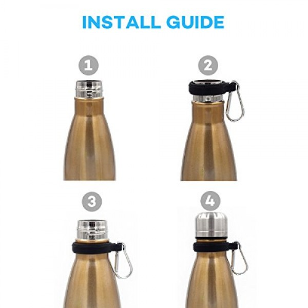 2-Pack Water Bottle Holder Carrier for Swell, MIRA, Simple Modern and Other Cola Shaped 12oz, 17oz and 25 oz Bottles